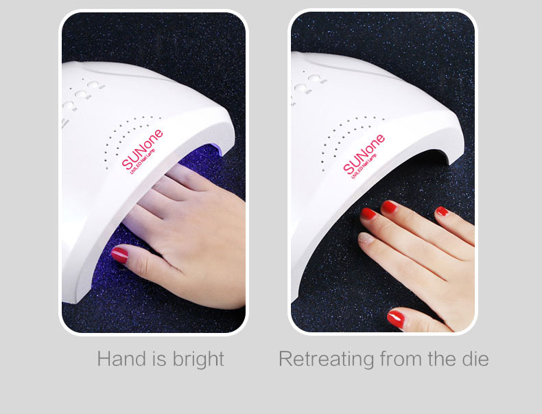 SUNone UV LED Nail Dryer Nail Lamp for Gel Polish 24W/ 48W Switching